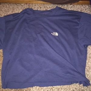 cropped north face shirt